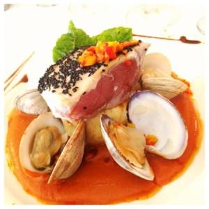 Seared Ahi Tuna Steak & Clams